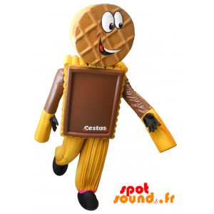 Mascotte de gâteau, de biscuit chocolaté
