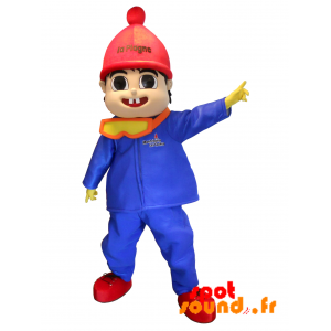 Mascotte La Plagne. Ski Outfit Boy Mascot - MASFR034306 - Human mascots