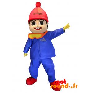 Maskot La Plagne. Pojkemaskot i skiddräkt - Spotsound maskot