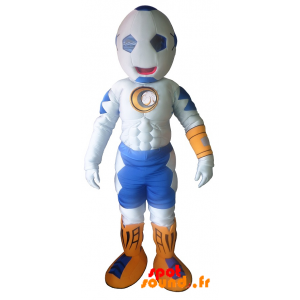 Mascot Muscular Man With Ball-Shaped Head - MASFR034307 - mascotte