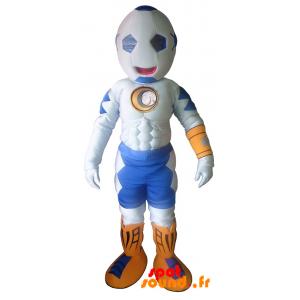 Mascot Muscular Man With Ball-Shaped Head - MASFR034307 - Human mascots