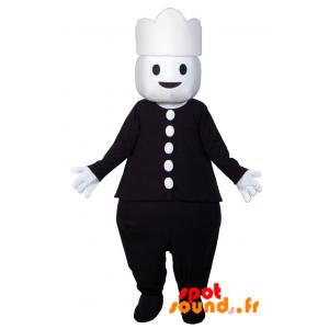 Snowman Mascot Dressed In Black. Mascot Playmobil - MASFR034308 - mascotte