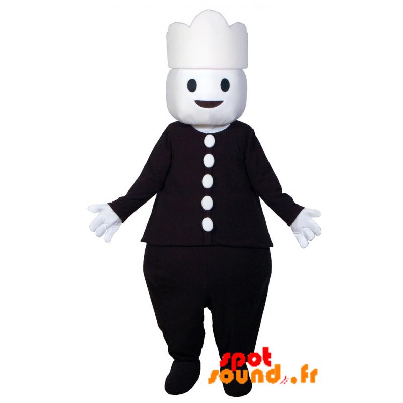 inégale en performance design exquis vente énorme Mascotte de bonhomme habillé en noir. Mascotte Playmobil