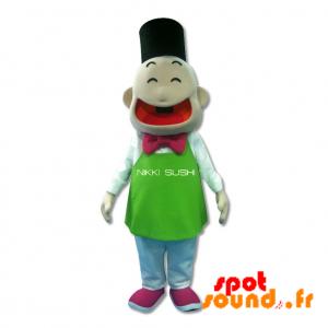 Mascotte d'homme japonais. Mascotte de sushi - MASFR034310 - Mascottes Homme