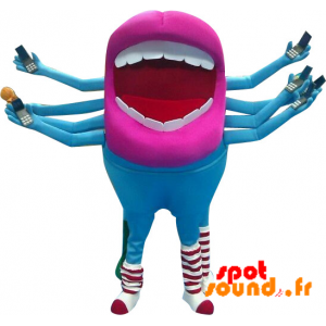 Giganten Munnen Maskot Med 8 Armer. Utenomjordisk Maskot - MASFR034311 - mascotte