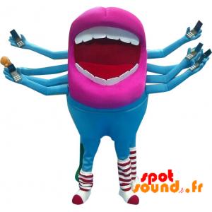 Mascotte de bouche géante avec 8 bras. Mascotte d'extra-terrestre - MASFR034311 - mascotte
