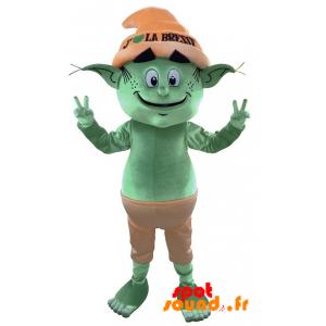 Green Leprechaun Mascot, Giant Elf. Fairy Mascot - MASFR034314 - Mascots unclassified