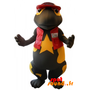 Mascot Giant Salamander, Black And Yellow - MASFR034324 - Mascots of the ocean