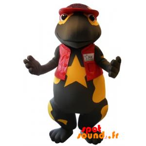 Mascotte de salamandre géante, noire et jaune - MASFR034324 - Mascottes de l'océan