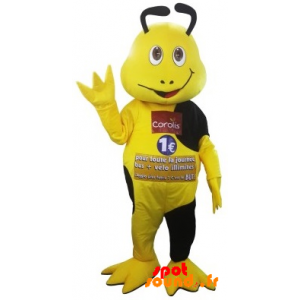 Mascot Yellow And Black Insect Coralis. Mascot Coralis - MASFR034326 - Mascots insect