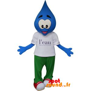 Mascotte de goutte bleue. Mascotte des eaux de Grenoble - MASFR034330 - mascotte