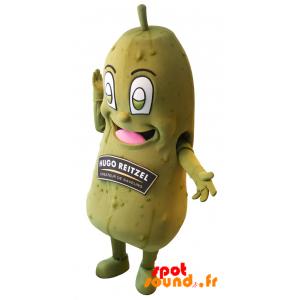 Mascotte de cornichon Hugo Reitzel. Cornichon géant - MASFR034332 - Mascotte de légumes