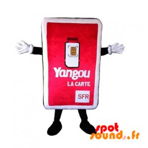 Mascotte de carte Sim de téléphone. Mascotte de téléphonie - MASFR034340 - mascotte