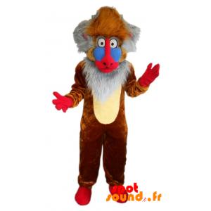 Mascotte de Rafiki, célèbre singe du dessin animé Le roi lion - MASFR034342 - Mascottes Lion