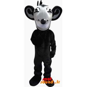 Mascot Gray And Black Rat With Big Ears - MASFR034345 - Mouse mascot
