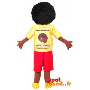 Afro Boy Mascot. Of African Mascot - MASFR034365 - Human mascots