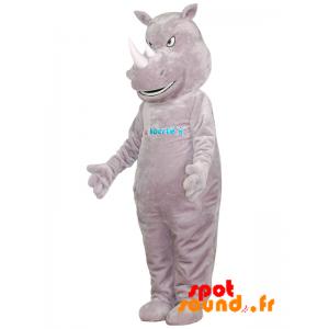 Mascotte de rhinocéros gris, géant et intimidant - MASFR034366 - Mascottes Personnages célèbres