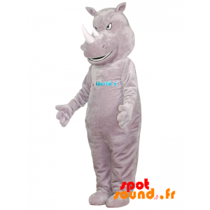 Mascot Gray Rhinoceros, Giant And Intimidating - MASFR034366 - mascotte