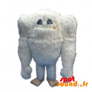 Mascotte de gros yéti blanc, géant et poilu - MASFR034370 - Mascottes de monstres