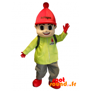 Winter Sports Mascot. Ski Outfit Boy Mascot - MASFR034371 - Sports mascot