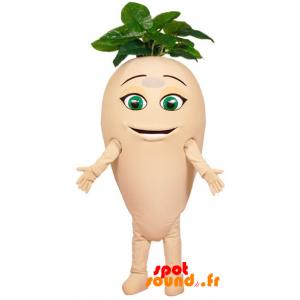 Majroe maskot, kæmpe radise med blade - Spotsound maskot