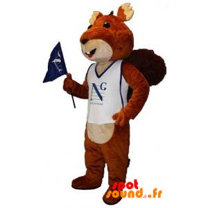 Brun og beige egern maskot. Kæmpe egern - Spotsound maskot