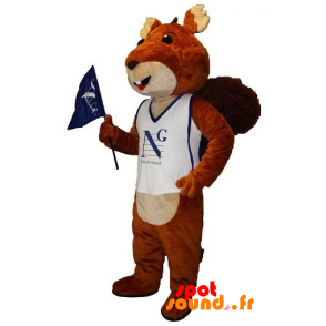 Mascot Of Brown And Beige Squirrel. Giant Squirrel - MASFR034374 - Mascots squirrel
