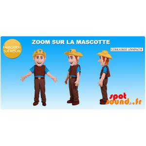Mascotte de cow-boy habillé en tenue traditionnelle - MASFR034375 - Mascottes Homme