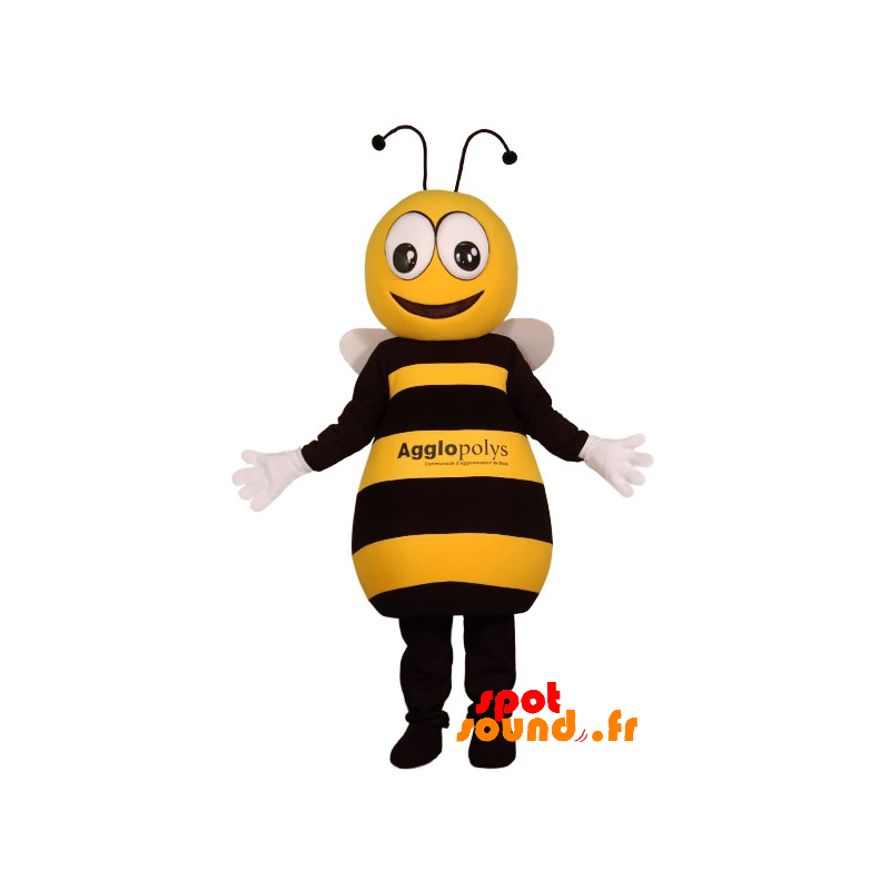 Mascot Yellow And Black Bee, Cute And Endearing - MASFR034381 - Mascots bee