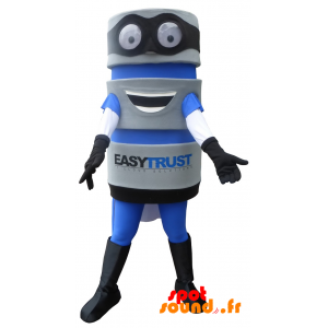 Mascotte d'outil avec une cape. Mascotte EasyTrust - MASFR034386 - Mascottes d'objets