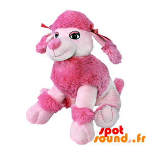 Plush Pink Dog With Fur And Knots On The Head - PELFR040000 - Goodies