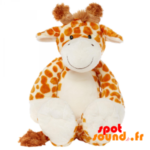 Żyrafa Pluszowa, Brązowy I Biały, Nakrapiany - PELFR040002 - plush