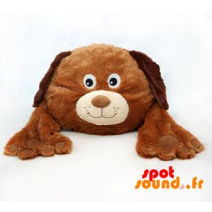 Chien marron, en peluche, mignon et attendrissant - PELFR040012 - plush