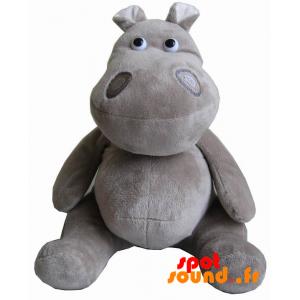 Hippopotame gris en peluche. Doudou hippopotame - PELFR040013 - plush