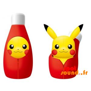 Peluche Pikachu dans une bouteille de Ketchup amovible - PELFR040016 - plush