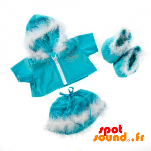 Christmas Outfit Complete, Blue And White - Plush Accessories - ACC45069 - access