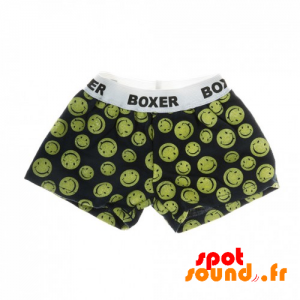 Boxer Black And Yellow With Smileys - Plush Accessories - ACC45073 - access