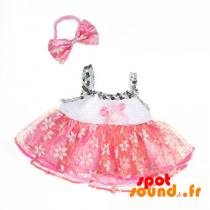 White And Pink Dress With Lace - Plush Accessories - ACC45076 - access
