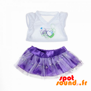 Purple Skirt And White Shirt - Plush Accessories - ACC45078 - access