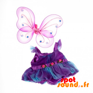 Colorful Dress With Butterfly Wings - Plush Accessories - ACC45079 - access