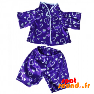 Pajamas, Purple Kimono With Hearts - Plush Accessories - ACC45083 - access