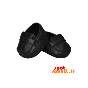 Pair Of Black Leather Shoes - Plush Accessories - ACC45099 - access