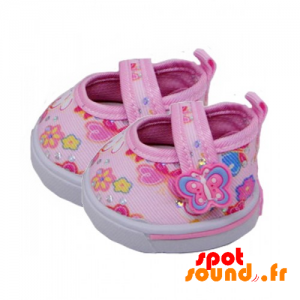 Small Pink Shoes With Flowers - Plush Accessories - ACC45101 - access