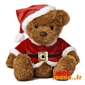Nounours en peluche avec une tenue de Père Noël - PELFR040022 - plush