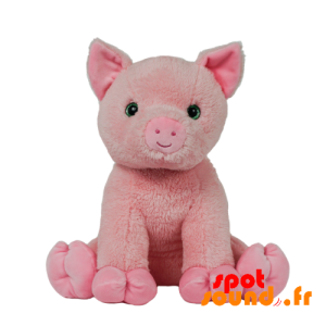 Pig Pink Stuffed With Pretty Green Eyes - PELFR040028 - plush