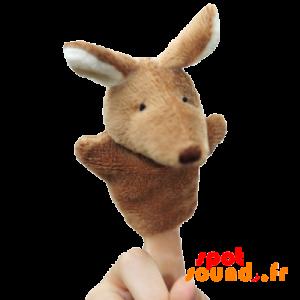 Marionnette à doigts en forme de kangourou. Kangourou en peluche