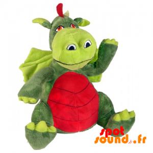 dragón de peluche con alas y una gran barriga - PELFR040036 - plush