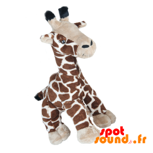 Giraffe Plush, Brown, Mottled. Plush Giraffe