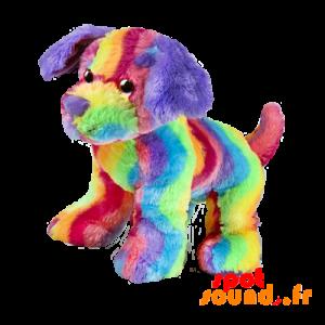 Multicolored Stuffed Dog. Rainbow Sky Dog