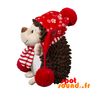 Hedgehog Stuffed With A Scarf And A Hat